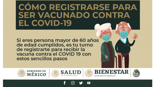 Si tienes más de 60 años ya puedes inscribirte para recibir la vacuna contra #COVID19